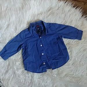 Baby Gap button long sleeve dress shirt 12-18mos